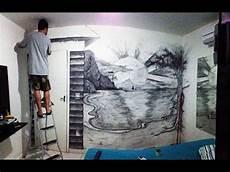 desenho em parede