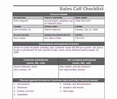 Sales Call List Template Sales Call Checklist Sales Call Template
