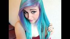 dying my hair blue purple