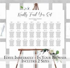 Wedding Seating Chart Poster Size Modern Wedding Seating Chart Template