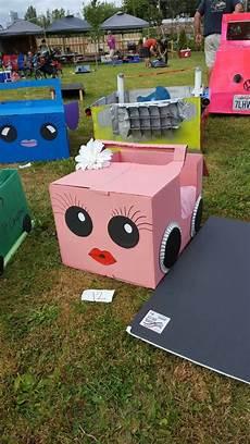 box auto cardboard boxcar drive in for
