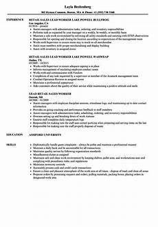 Retail Worker Job Description Retail Worker Resume Samples Velvet Jobs