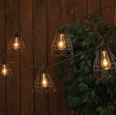 Caged Patio Lights Amazon Com The Gerson Company 10 Count Antique Caged St40