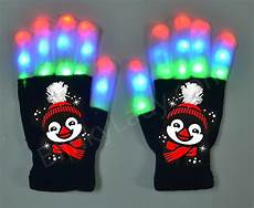 Light Up Gloves For Kids Light Up 6 Penguin Gloves With Holiday Hat Blinky Lady