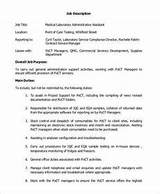 Medical Assistant Job Description For Resume Free 8 Sample Medical Assistant Job Description Templates