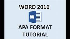 How To Set Up A Paper In Apa Format Apa Format Word 2016 How To Set Up A Paper In Apa