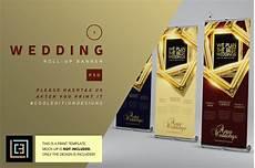 Wedding Banner Design Templates Wedding Roll Up Banner 1 Flyer Templates Creative Market