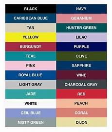 Scrub Color Chart Hospital Color Codes Purple