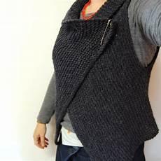 stricken weste cuppa cake simple knitted wrap vest pattern