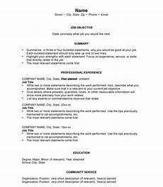 How To Write A Chronological Resume Chronological Resumes Sample Templates And Examples