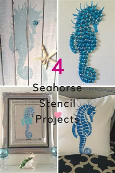 four easy diy projects using seahorse stencil our crafty mom