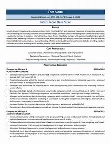 Hotel Desk Clerk Resume Hotel Front Desk Clerk Resume Samples Amp How To Guide Zipjob