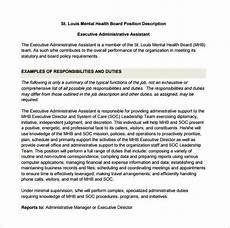 Admin Assistant Job Description Sample Administrative Assistant Job Description Template 10