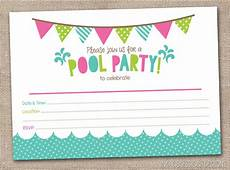Party Invitation Template 45 Pool Party Invitations Kitty Baby Love