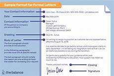 Letter Layout Formal Letter Format Example And Writing Tips