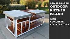 outdoor island kitchen building an outdoor kitchen island with diy concrete