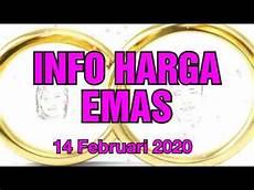 info harga emas hari ini 14 februari 2020