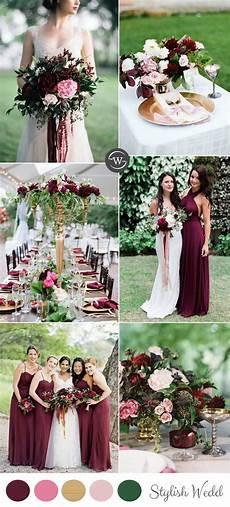 wedding trends 10 fantastic burgundy color combos for