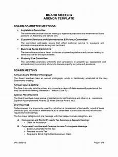 Board Meeting Templates Free Board Meeting Agenda Template 7 Free Templates In Pdf