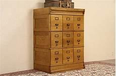 oak stacking 1900 antique 9 drawer file cabinet original