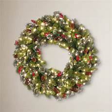Outdoor Christmas Wreaths With Led Lights The Holiday Aisle 36 Quot Lighted Spruce Wreath Amp Reviews