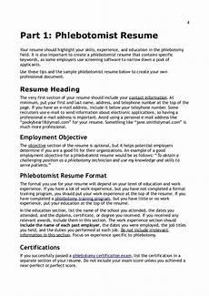 Phlebotomist Skills Resume Writing Amp Interview Tips For Phlebotomists