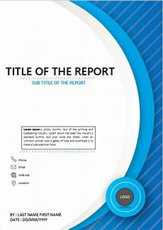Report Cover Pages Title Page Cold Blue Abstract Cover Page Template