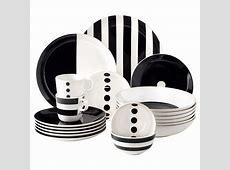 Dinnerware Black And White & Retrospect 16 Piece