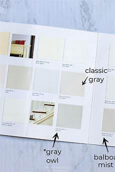 Benjamin Moore Lrv Chart Benjamin Moore Gray Owl Color Study 31 Painted Spaces