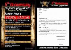undangan terbuka acara anniversary 5th cb police