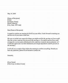 Sample Letter Requesting A Meeting 10 Meeting Appointment Letter Templates Pdf Doc Free