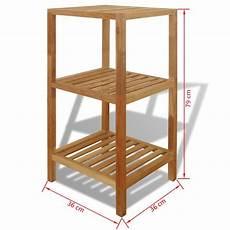 scaffale di legno vidaxl scaffale da bagno in legno di noce 36x36x79 cm