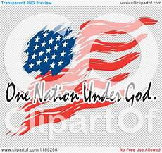 American Flag Watermarks Cartoon Of A Wavy Painted American Flag With One Nation