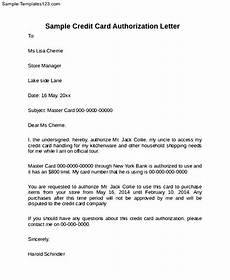 Credit Card Authorization Letter Template Credit Card Authorization Letter To Print Sample