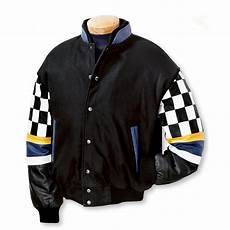 s burk s bay 174 wool and leather racing jacket black