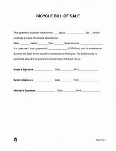 Bike Selling Agreement Format Free Bicycle Bill Of Sale Form Word Pdf Eforms