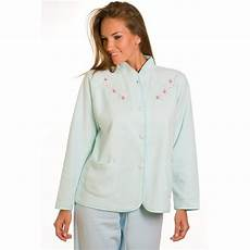 camille turquoise embroidered fleece womens
