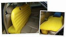 shaped air mattress turns your backseat into a bed