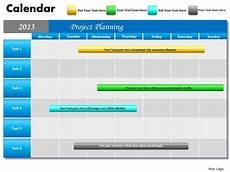 Calendar Slides Project Planning Gantt Chart 2013 Calendar Powerpoint