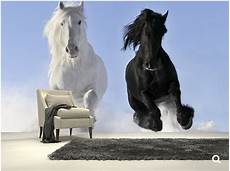 benutzerdefinierte kinder tapete pferde in schnee 3d