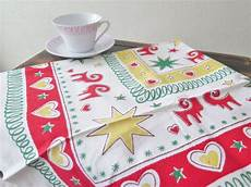 tables clothes goat vintage 70s table cloth traditional swedish
