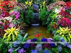 Flower Wallpaper Garden by Beautiful Flower Garden Wallpapers Wallpapersafari