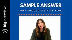 How To Answer Why Should We Hire You Why Should We Hire You Sample Answer Software
