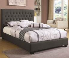 300529 upholstered bed in charcoal fabric by coaster
