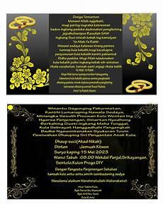 contoh undangan pernikahan dalam bahasa jawa contoh
