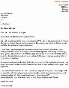 Cover Letters For Sales Sales Advisor Cover Letter Example Icover Org Uk