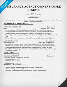 Insurance Agent Resumes Insurance Agency Owner Resume Sample Job Resume Samples