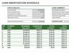 Auto Loan Amortization Table Excel Loan Amortization Schedule