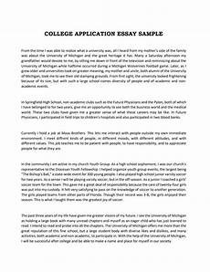 Sample College Application Essays Expert Guide To Write A College Application Essay Examples