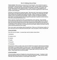 Sample Project Outline Project Outline Template 8 Free Word Excel Pdf Format